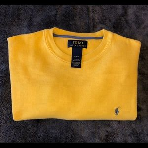 POLO BY RALPH LAUREN WAFFLE-KNIT CREWNECK THERMAL